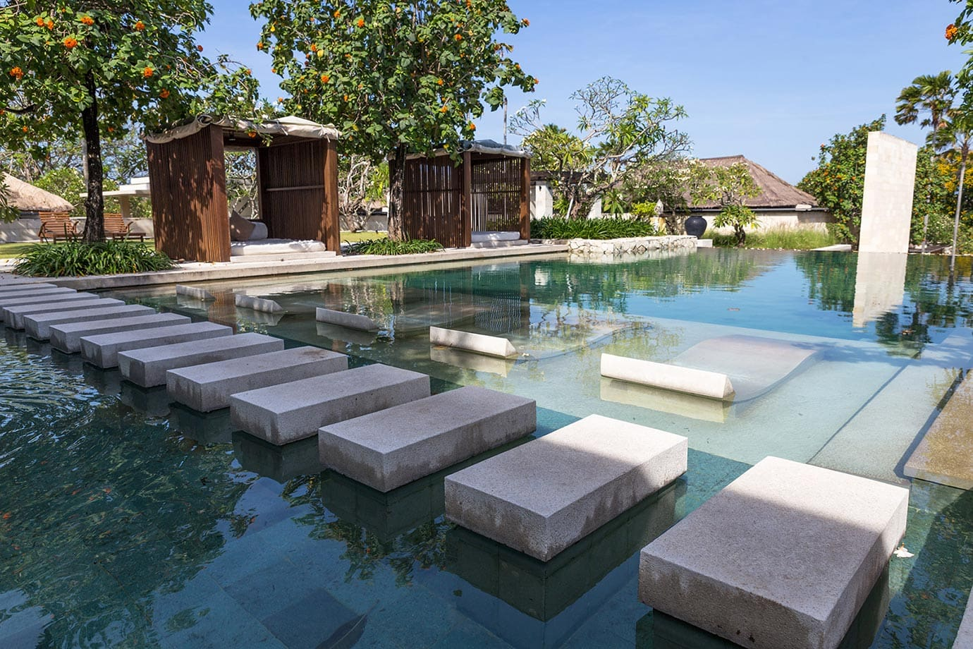 The infinity pool at The Bale