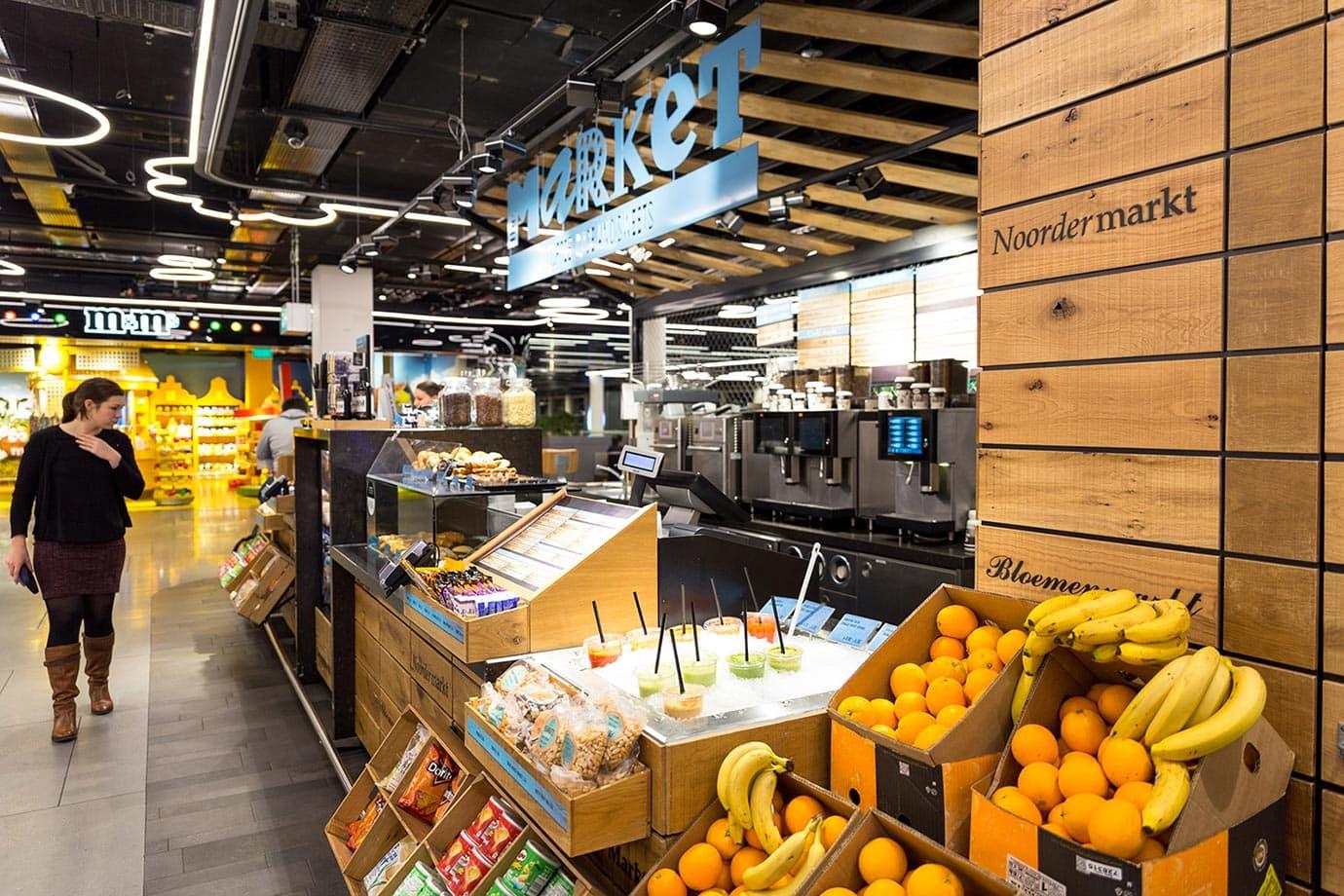 Fruit market at Schiphol Airport