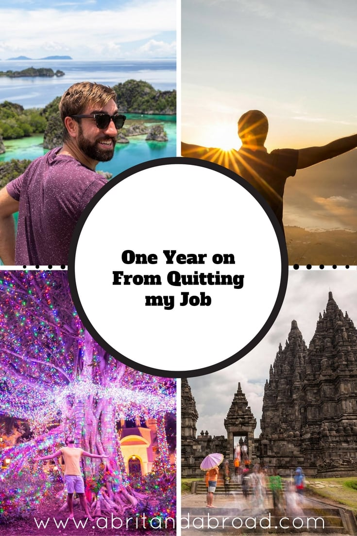 One Year on From Quitting my Job