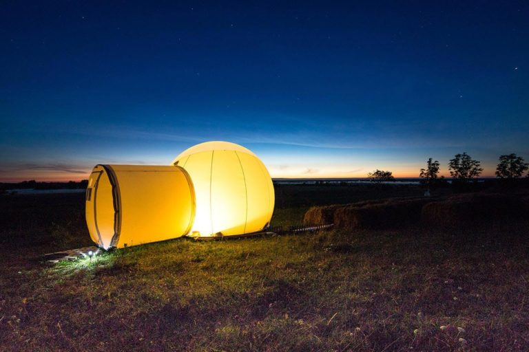 Staying at the Bubble Hotel, Estonia