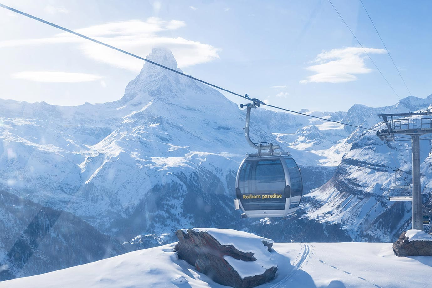 Cable car in Zermatt