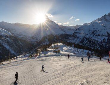 Learning to Ski in Zermatt, Switzerland