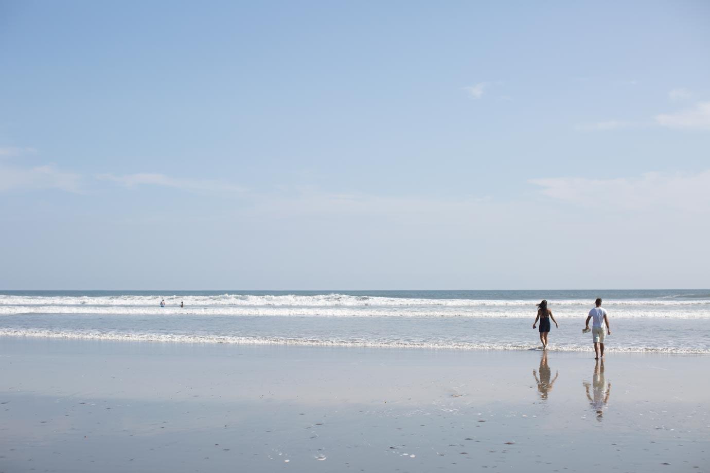 beach el cuco el salvador central america