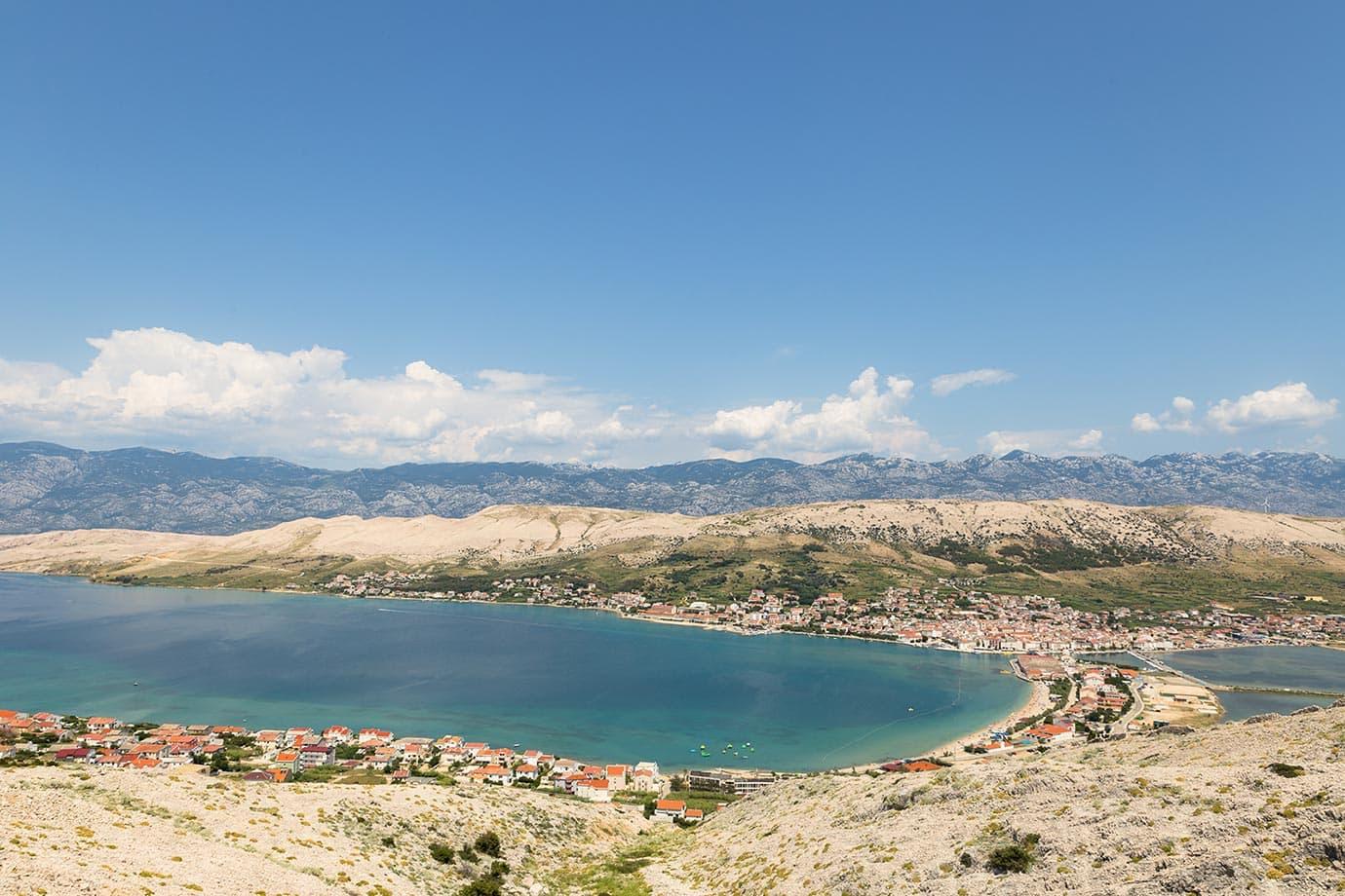 View of Pag, Croatia