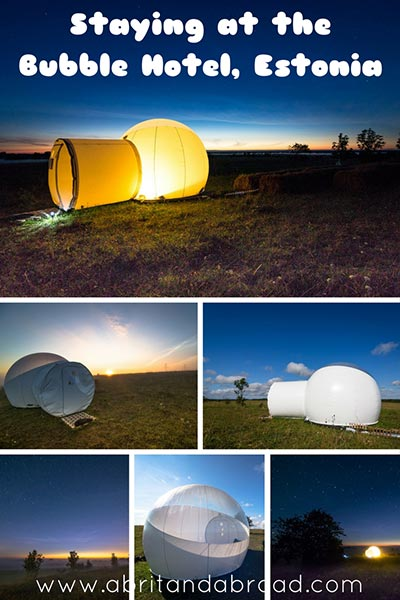 Staying at the Bubble Hotel in Estonia
