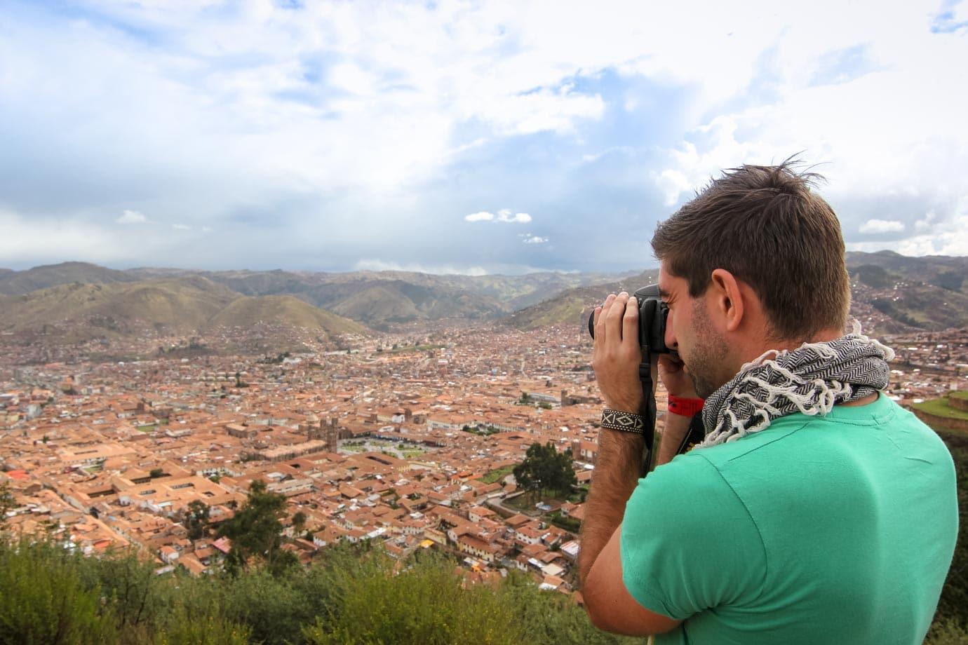 Taking photos of Cusco, Peru