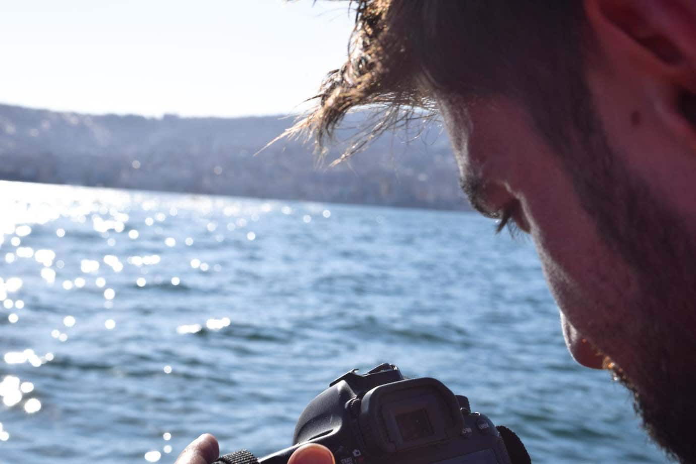 Taking photos while on a boat