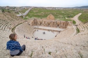 Views of the South Theatre, Jerash, Jordan