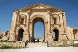 The main enterance into Jerash, Jordan