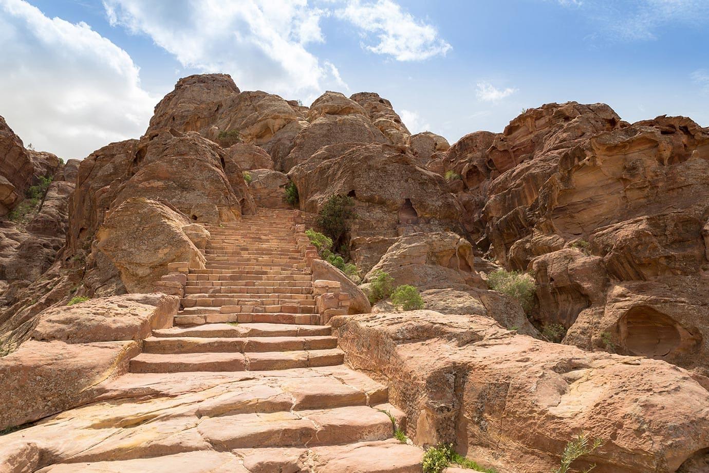 Steps at Petra