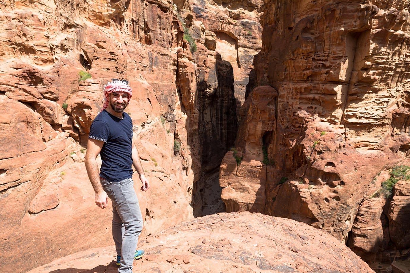 Walking around Petra, Jordan