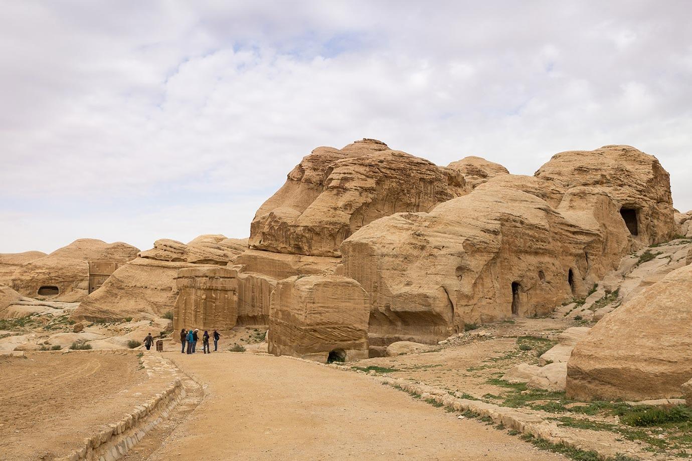 Walking into Petra, Jordan