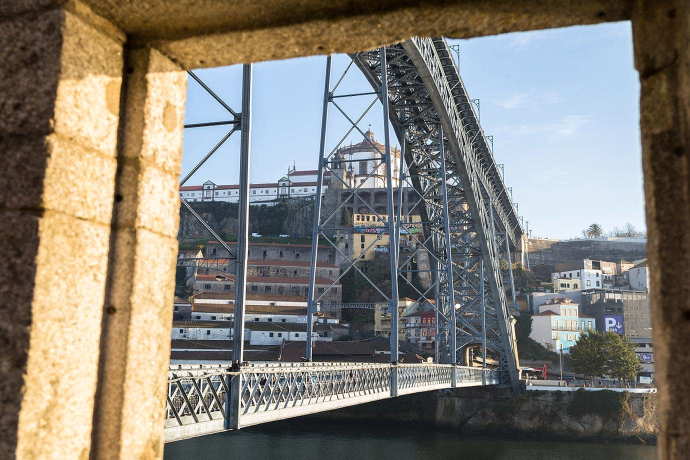 The Dom Luis I bridge, Porto