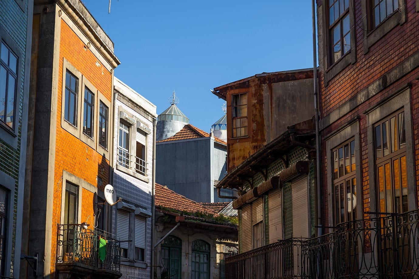 Colourful buildings, Porto