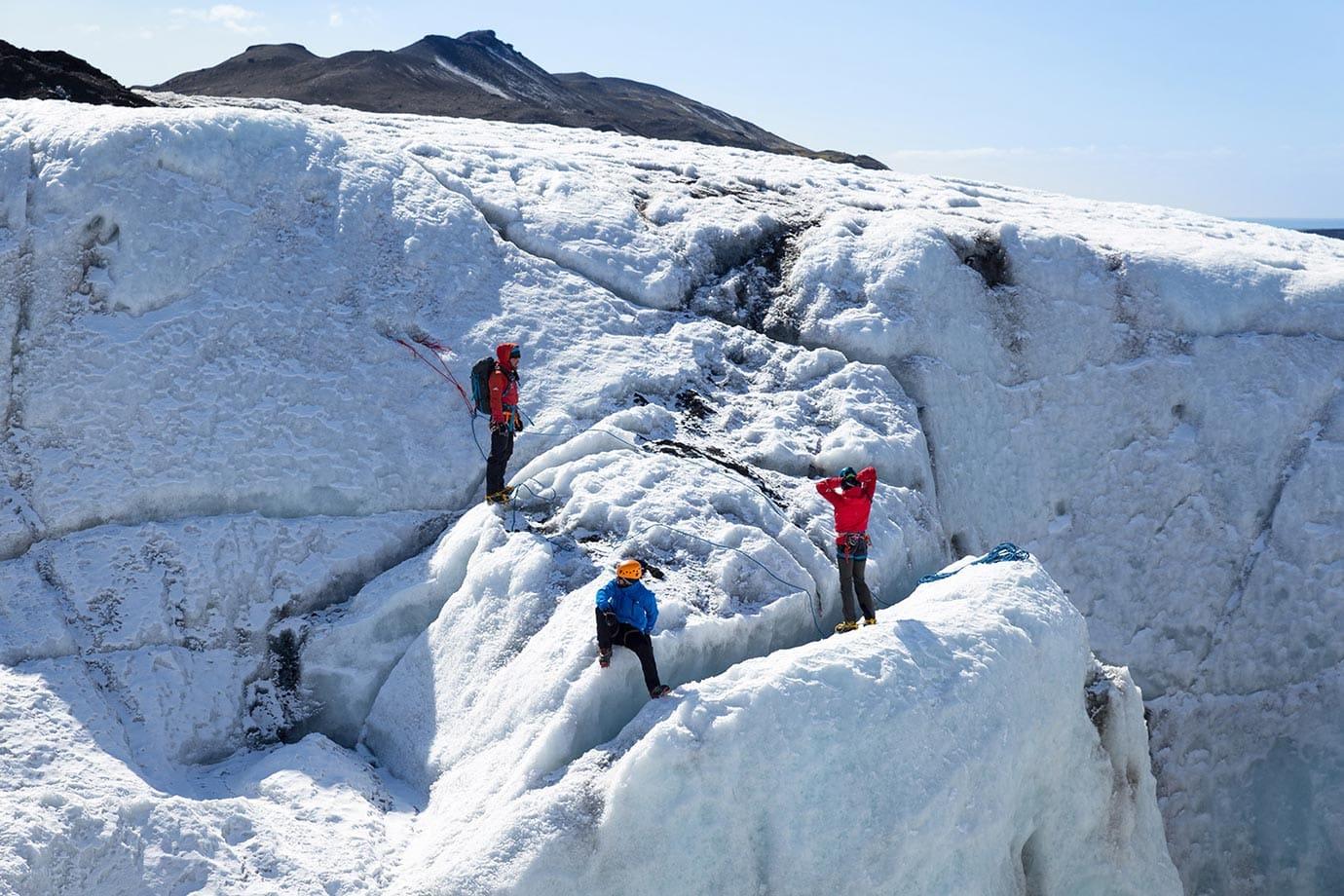 Glacier climbing, Iceland