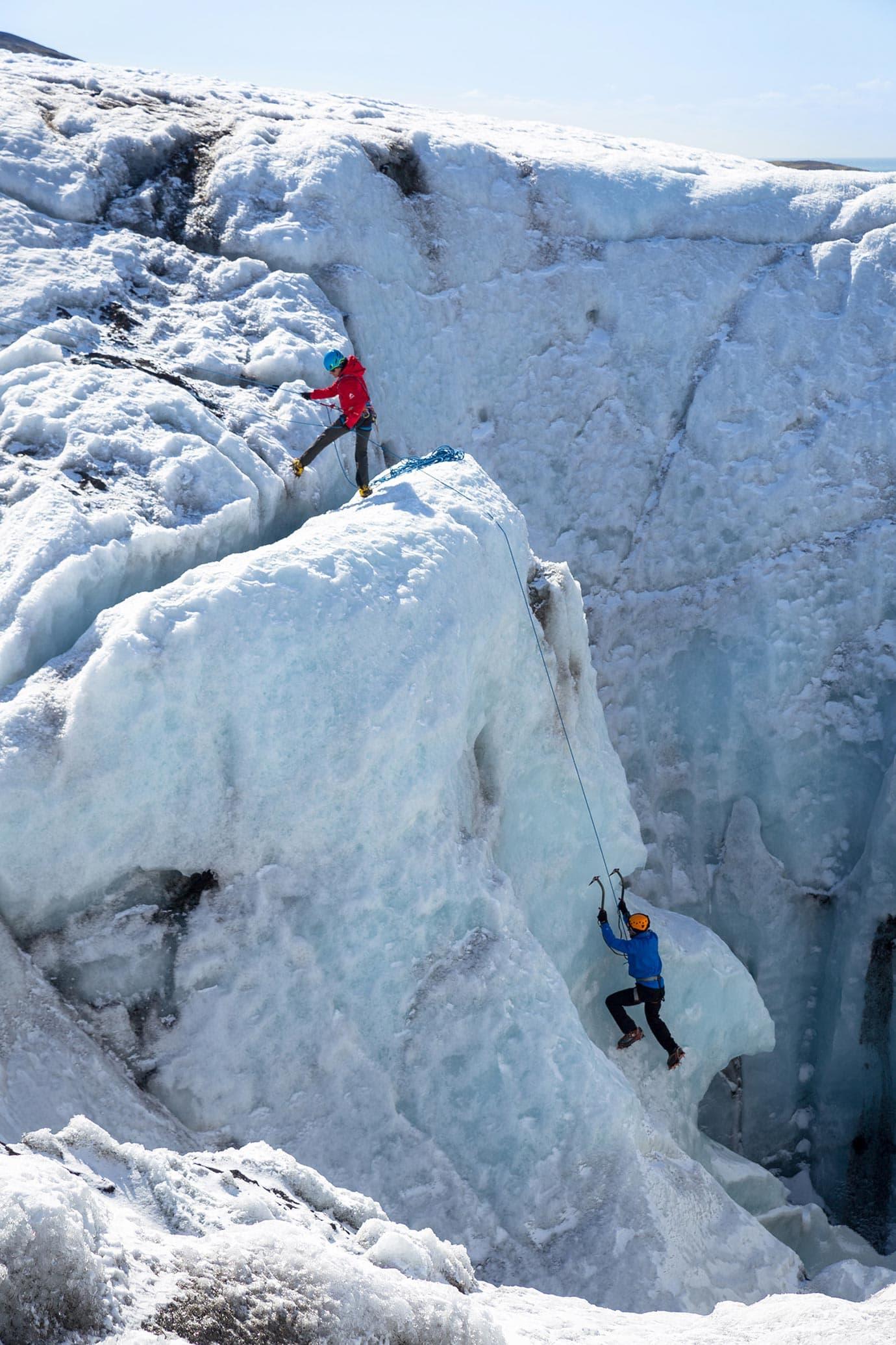 Ice climbing, Iceland