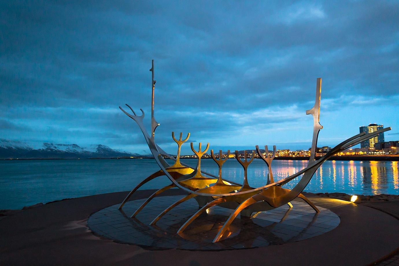 Sun Voyager sculpture, Reykjavik