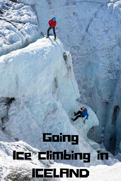 Going ice climbing in Iceland