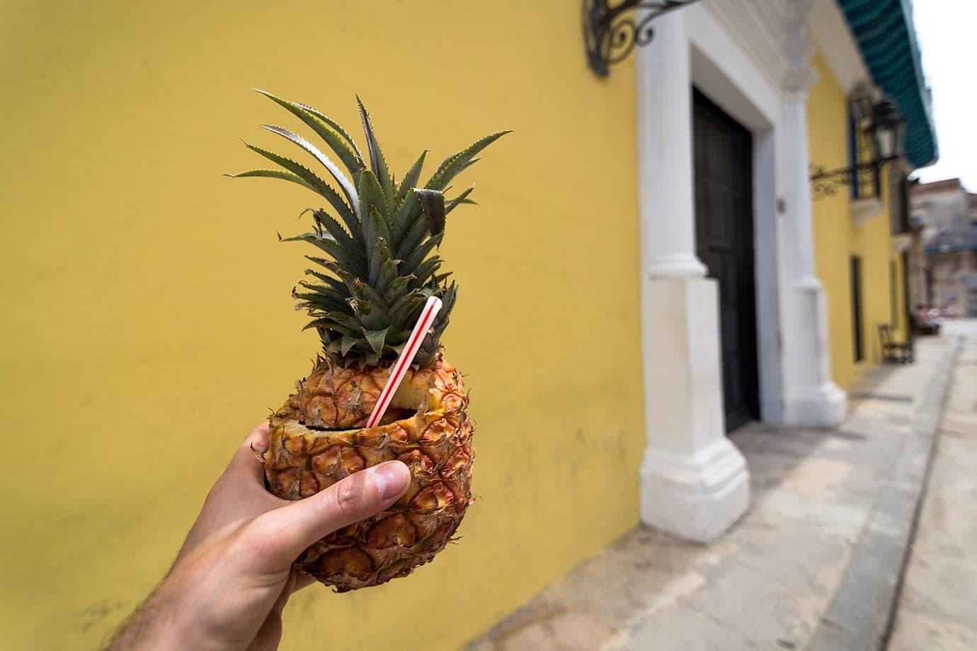Pineapple pina colada