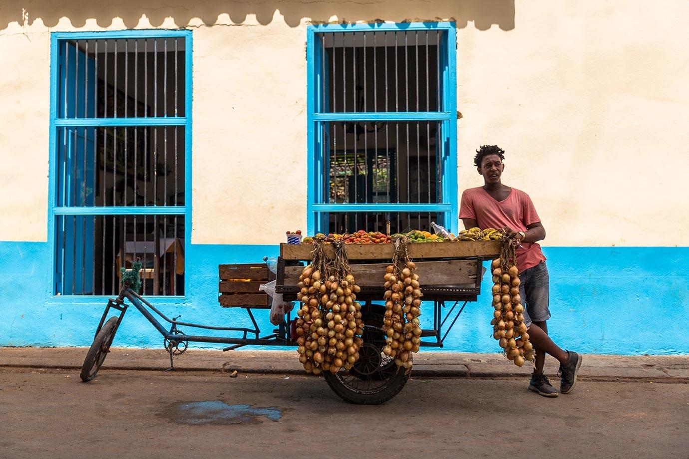 street seller in cuba