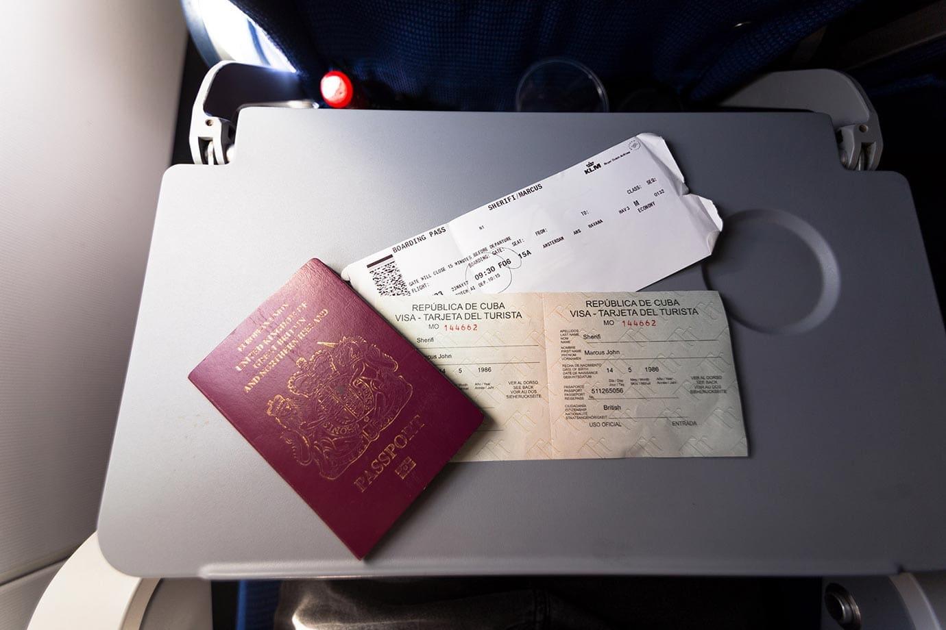 Tourist visa for Cuba
