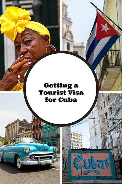 Tourist visas for Cuba