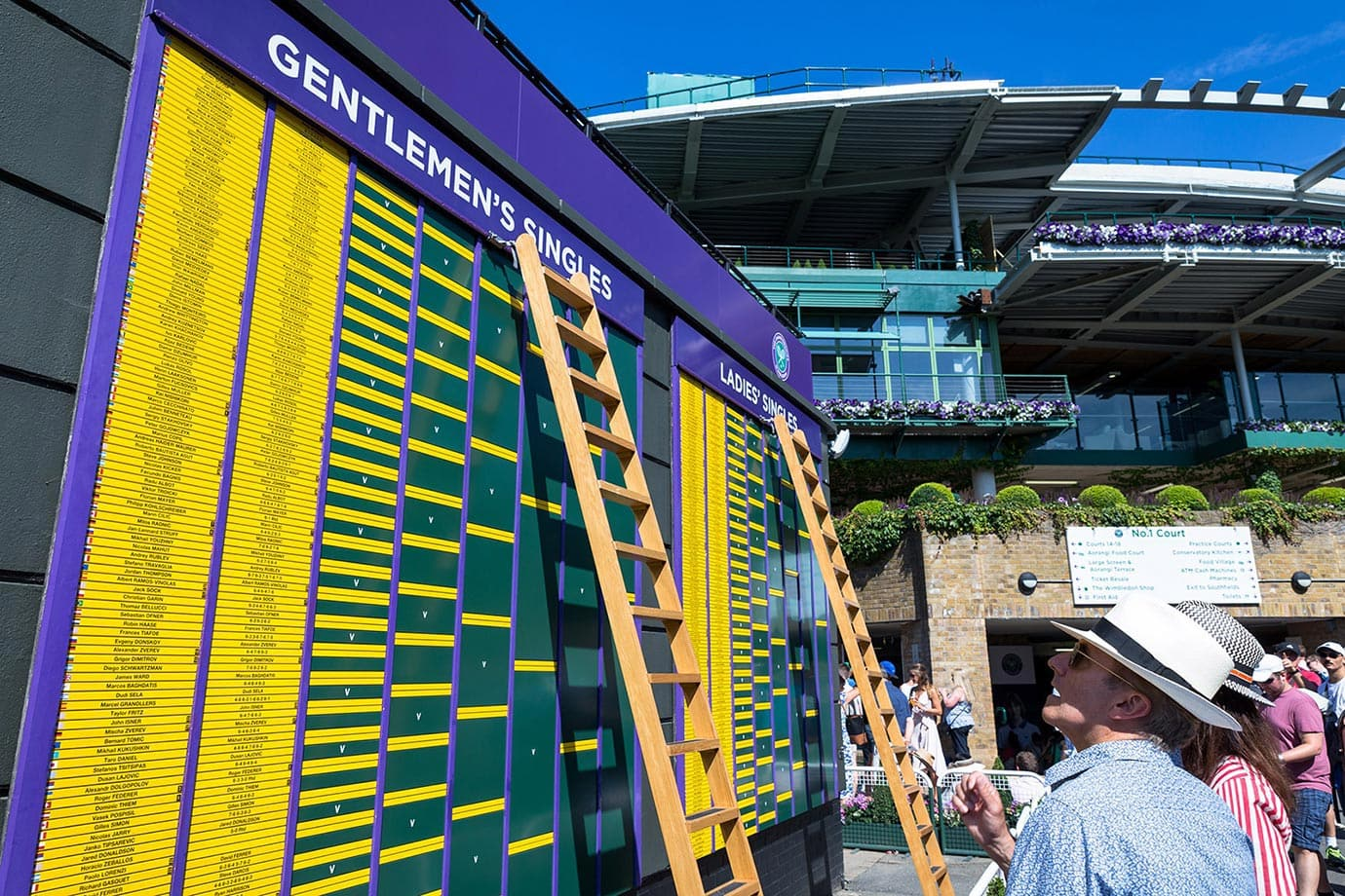 Order of Play board, Wimbledon