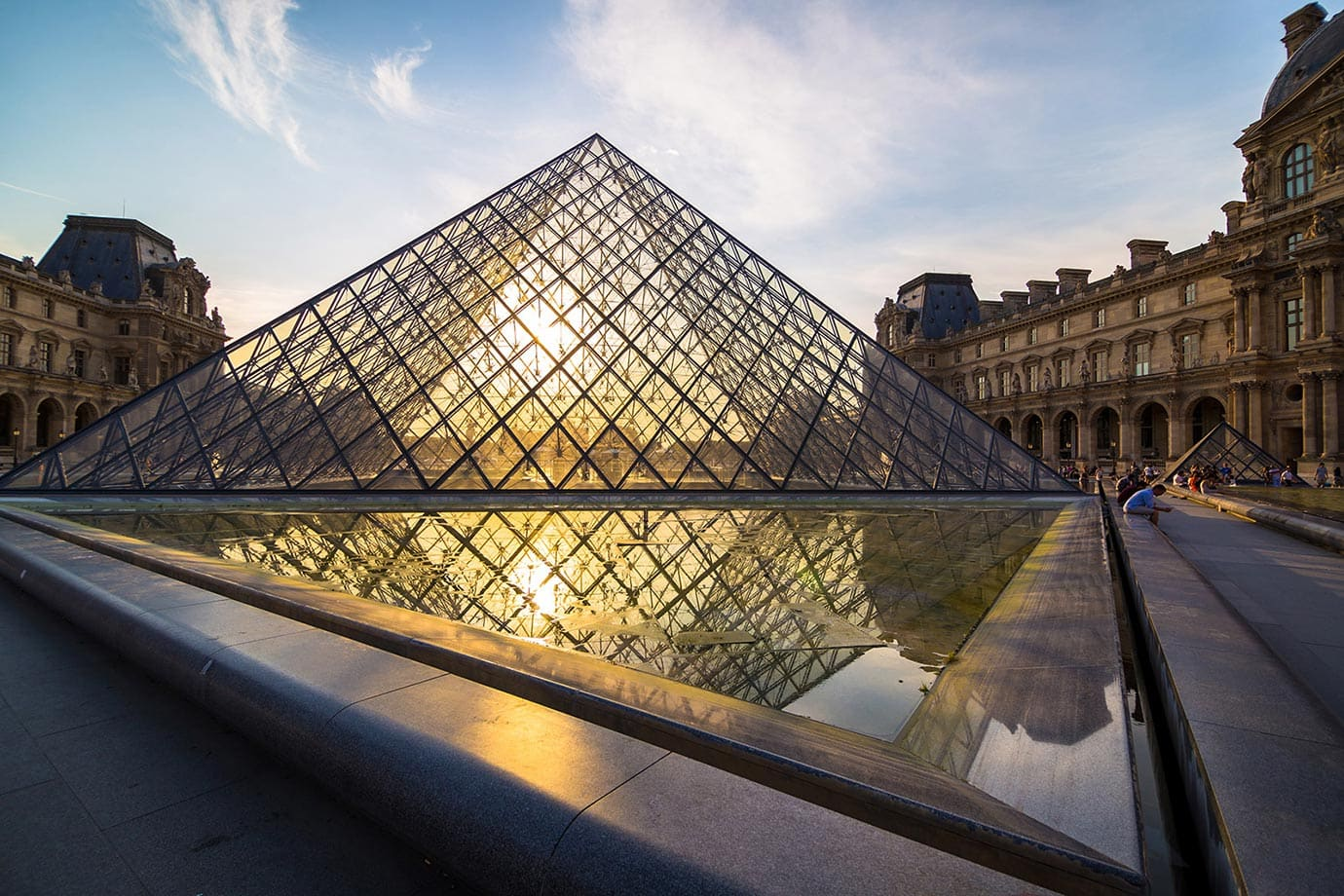 Sunset at the Louvre, Paris