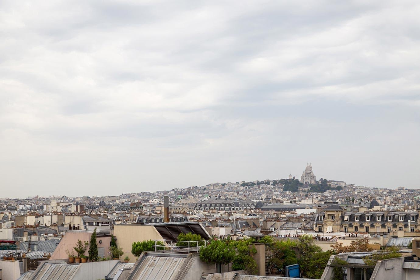 Views from the Pompidou Centre, Paris