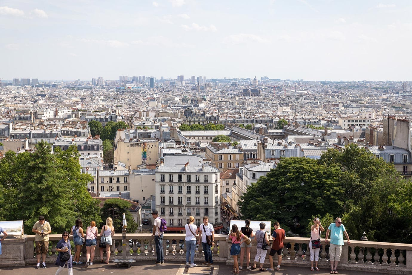 Views from the Sacre-Coeur, Paris