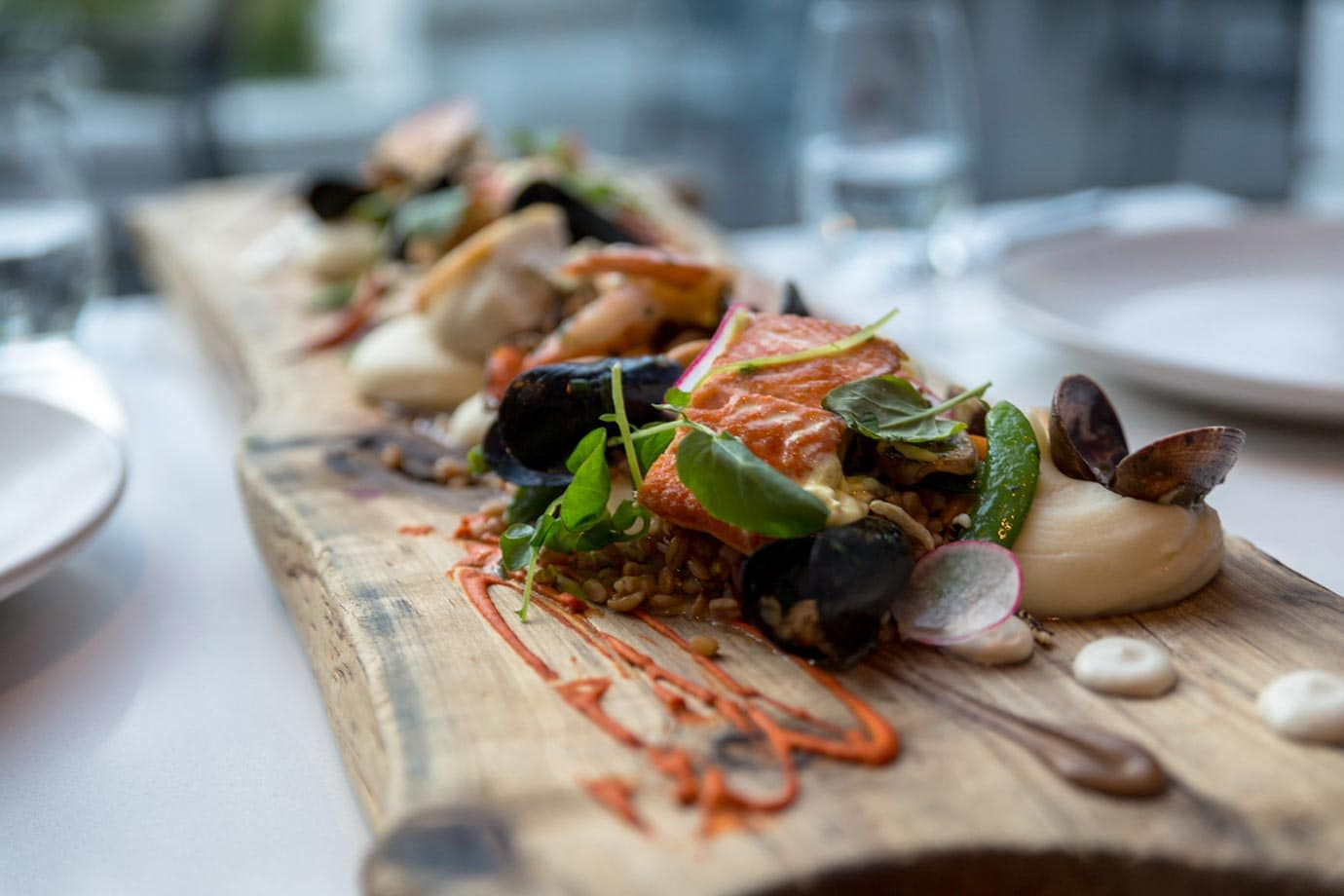 The seafood platter at the Fairmont Waterfront