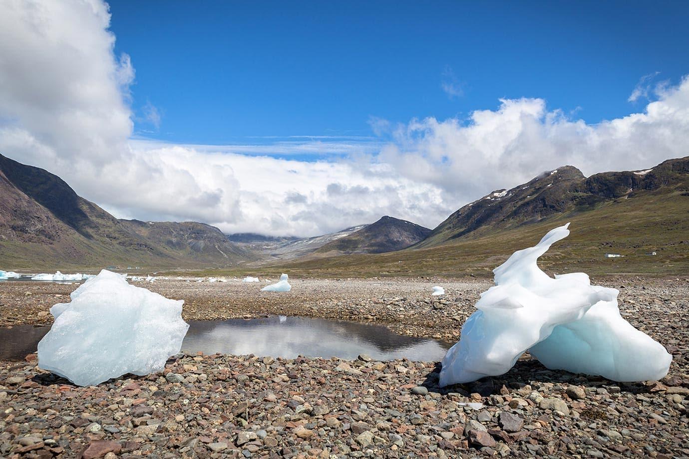 Iceberg beach in Greenland