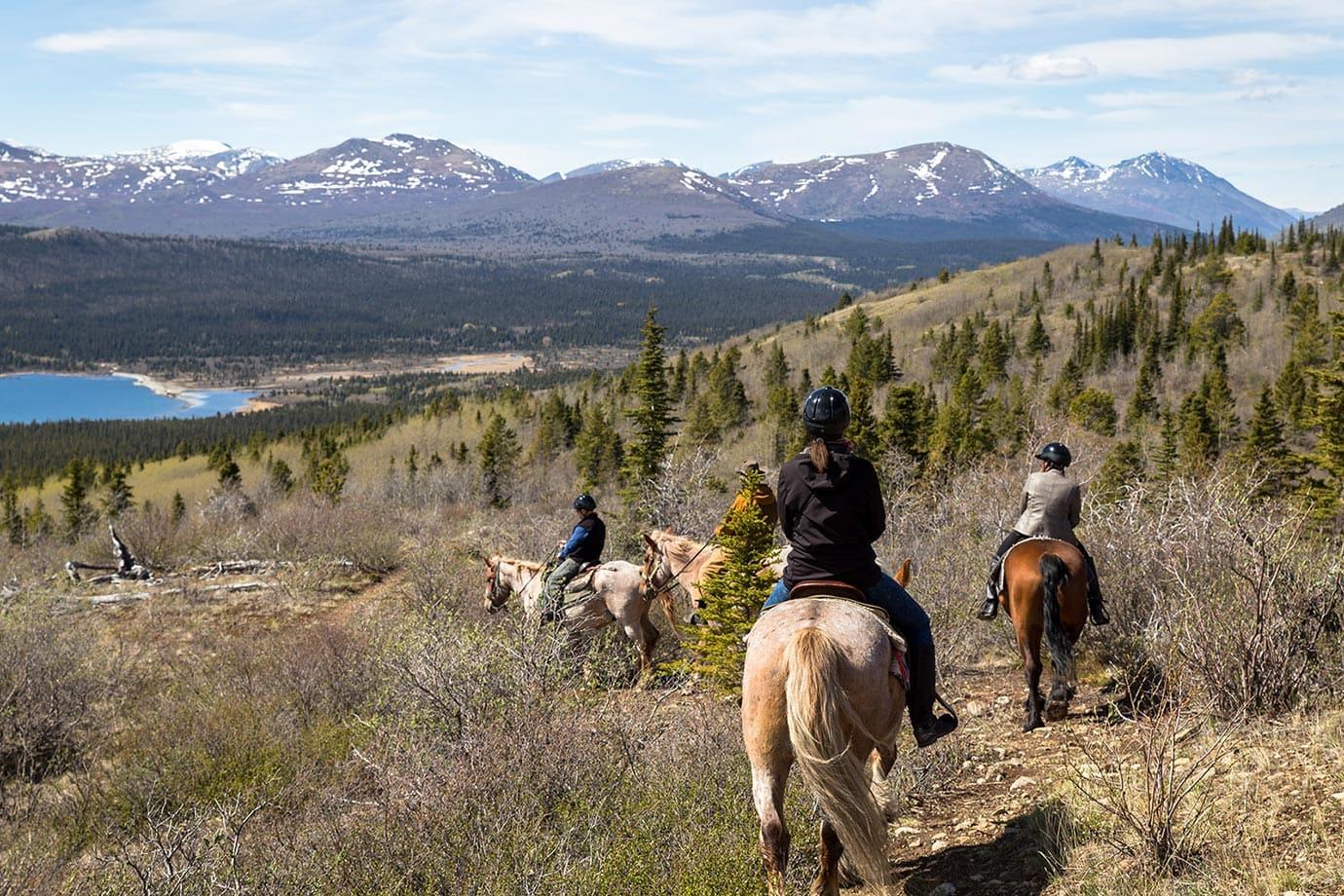 Horse riding at Fish Lake
