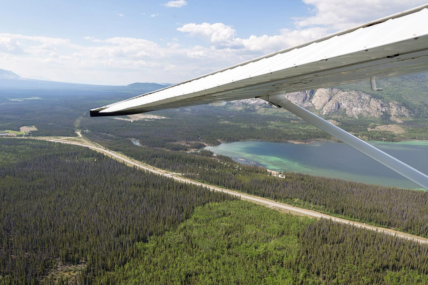 Flying over Haines Junction, Canada