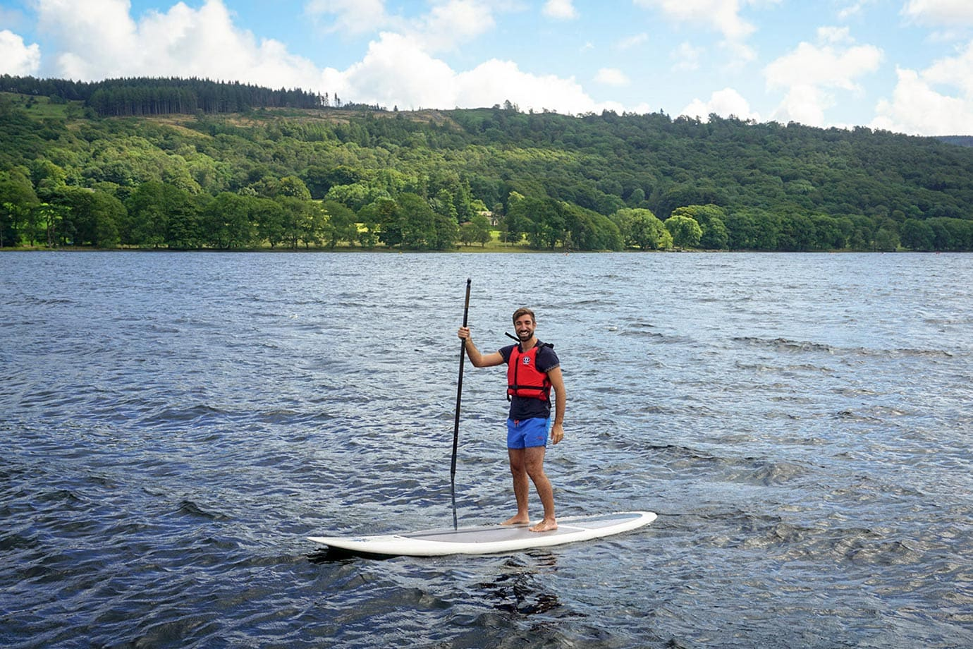 Standup paddleboarding, Lake District
