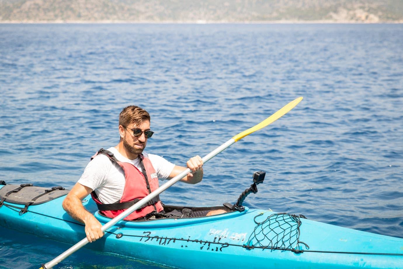 Kayaking in Kekova, Turkey