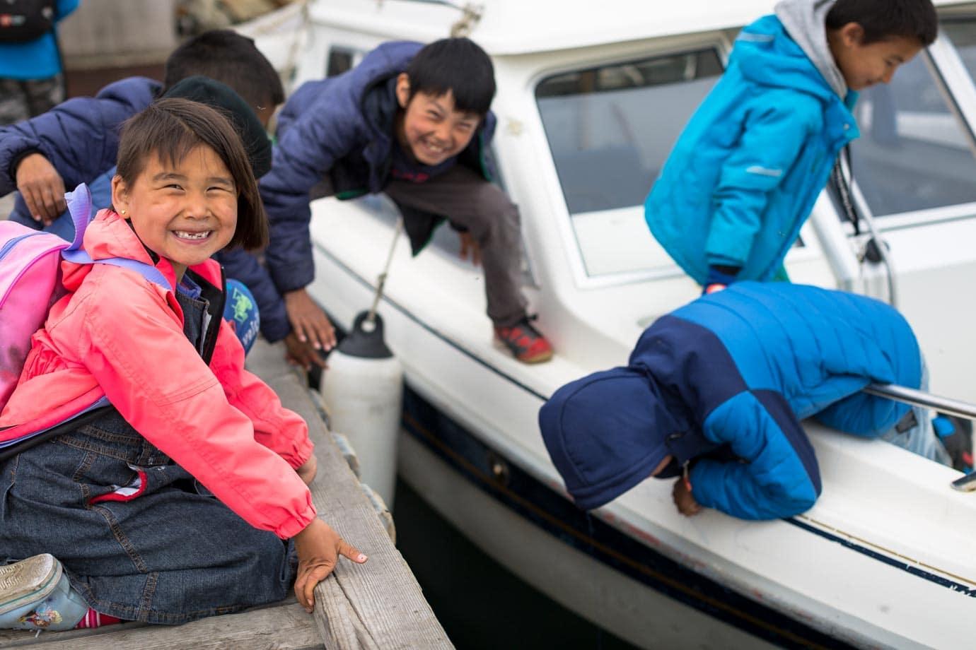 Kids in Greenland