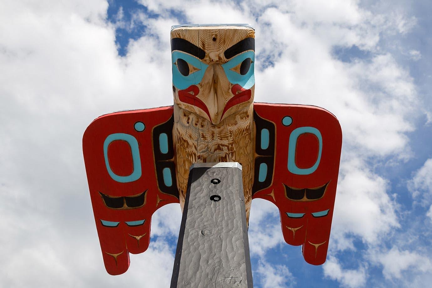 Native eagle in the Yukon