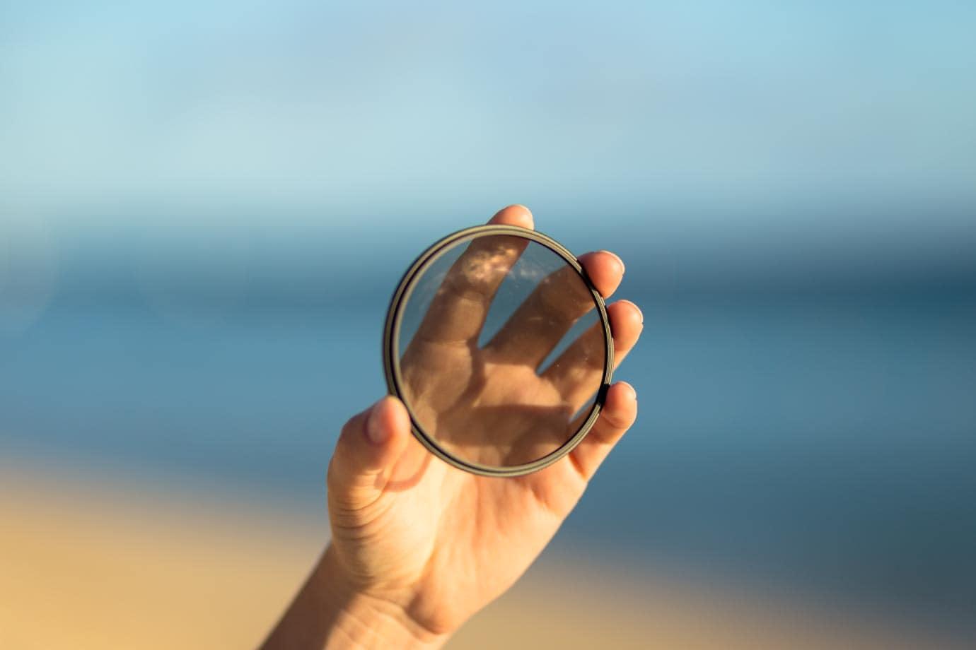 Circular polarising filter