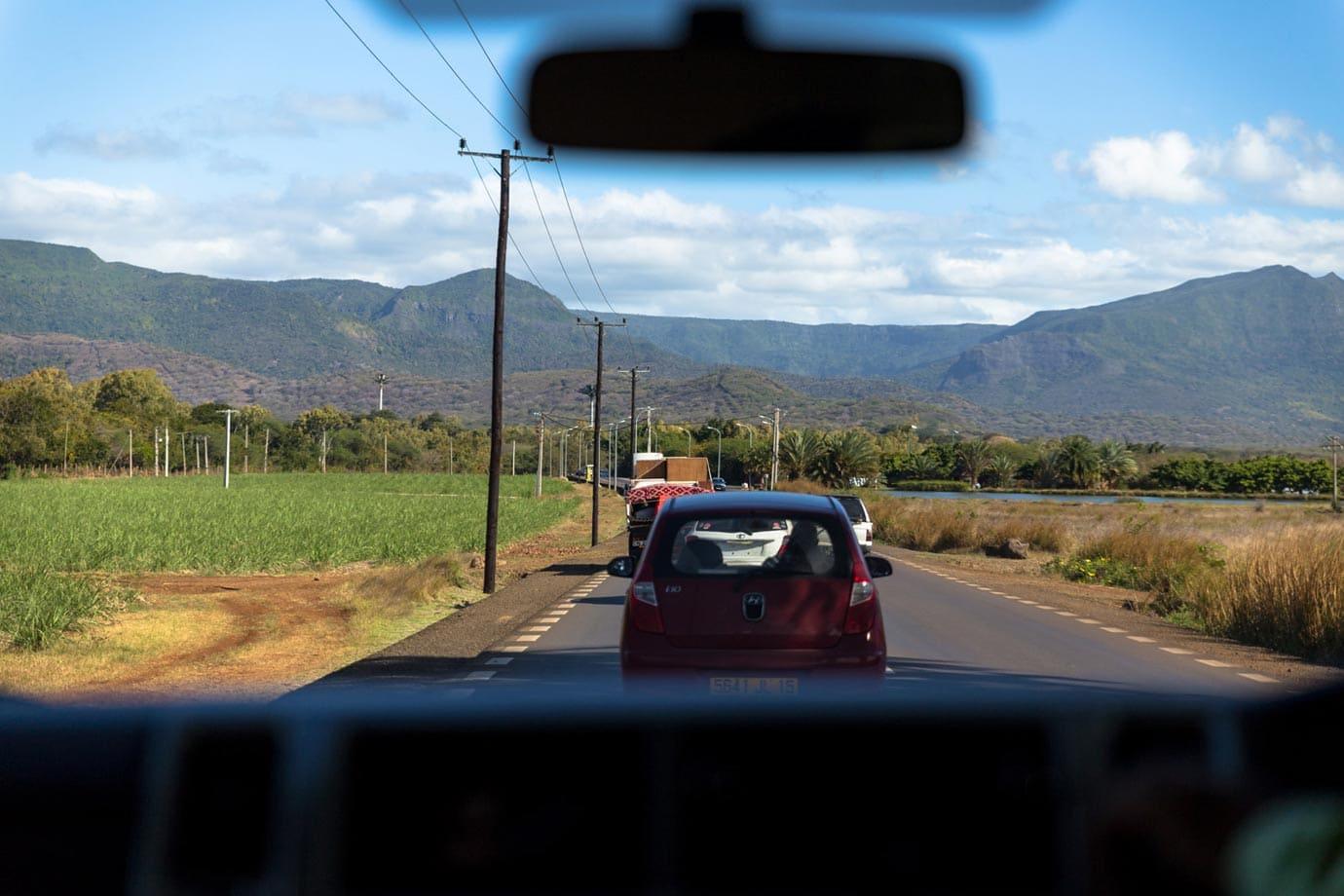 Driving around Mauritius