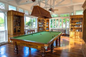 Snooker table at Heritage le Telfair