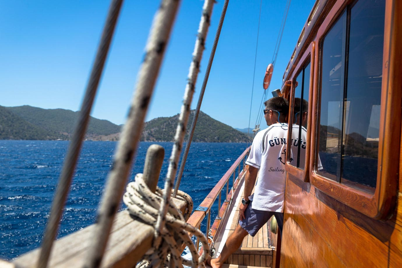 Sailing a gulet boat