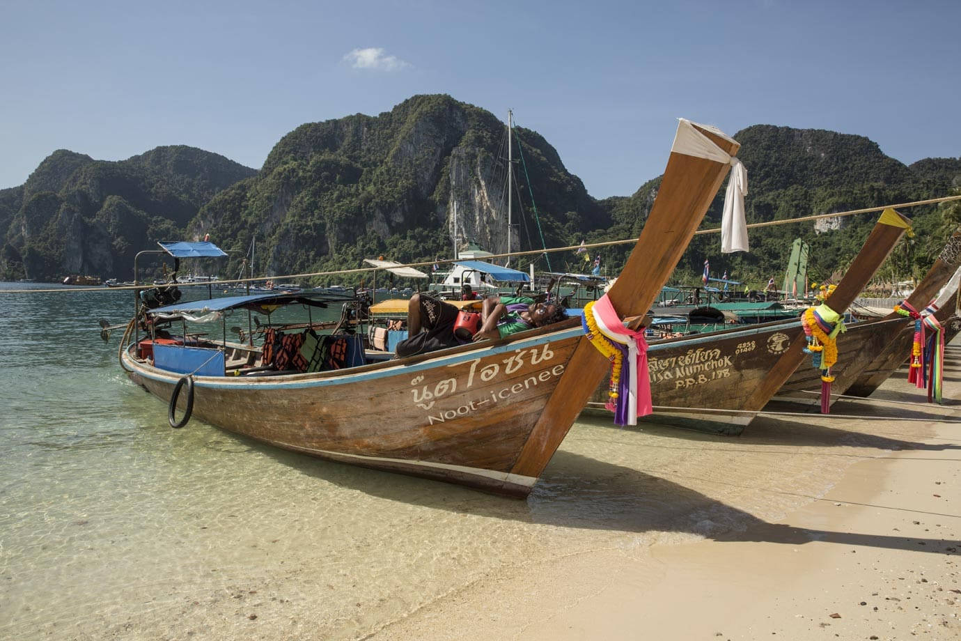 Boats at Koh Phi Phi in Thailand