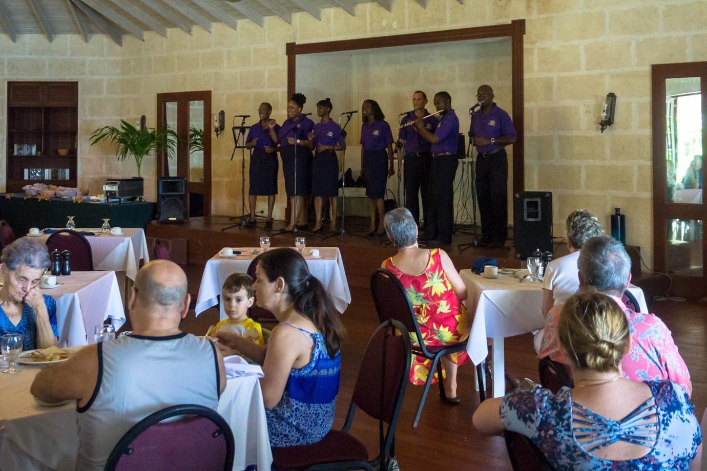 Gospel breakfast at the Crane Hotel, Barbados