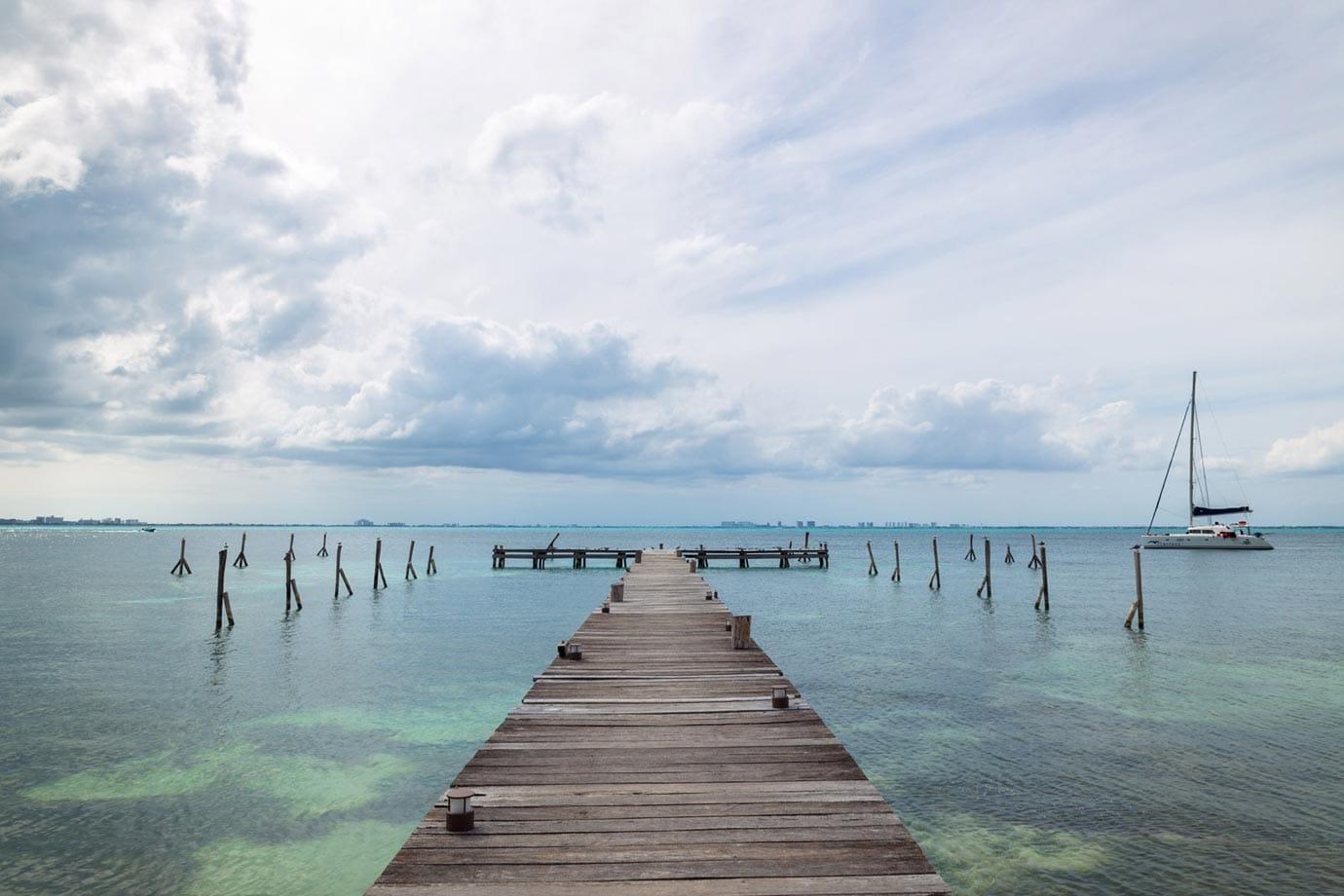 Pier at Isla Mujares, Mexico