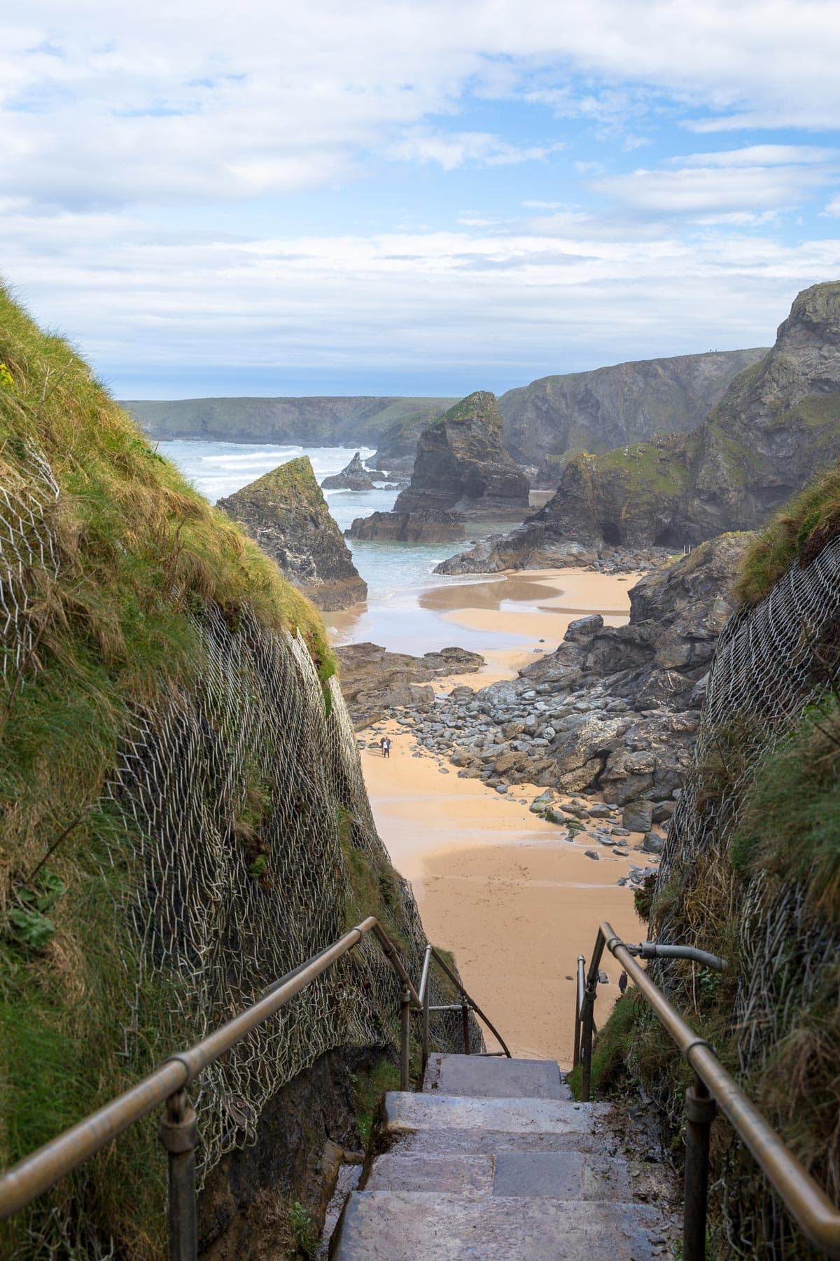 Steps at the Bedruthan Steps, Cornwall