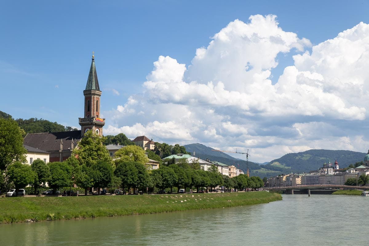 View along the salzach river