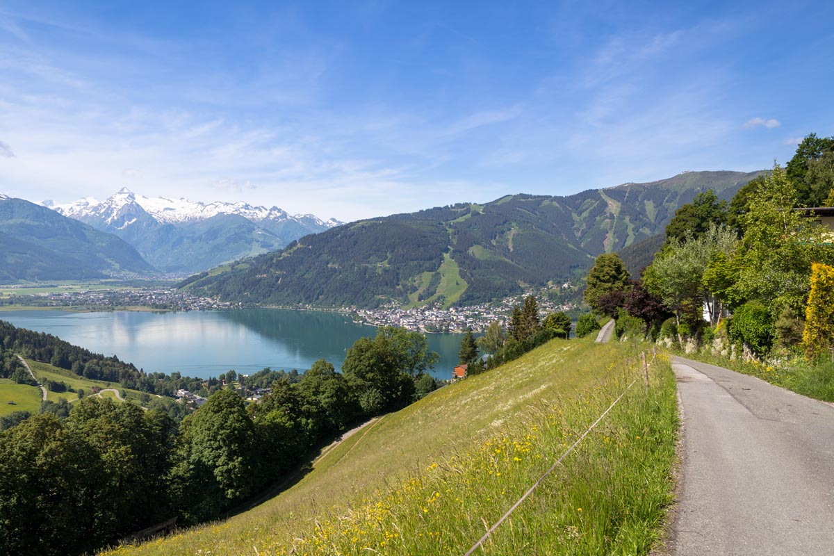 zell am see in summer