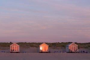 sunset at beach houses