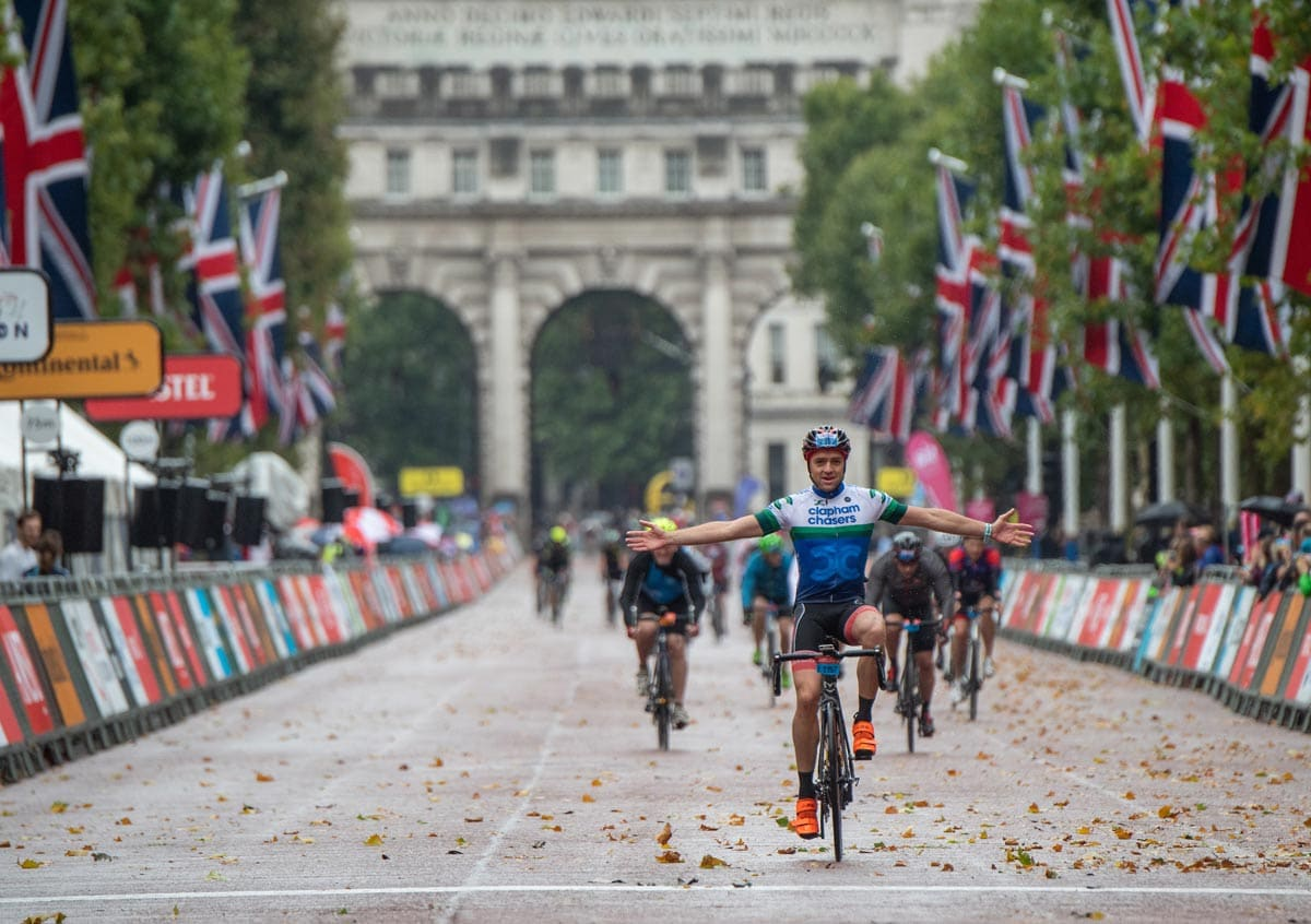 ridelondon2019 finish line